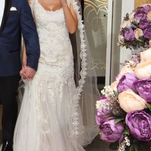 Oleg Cassini mermaid wedding dress